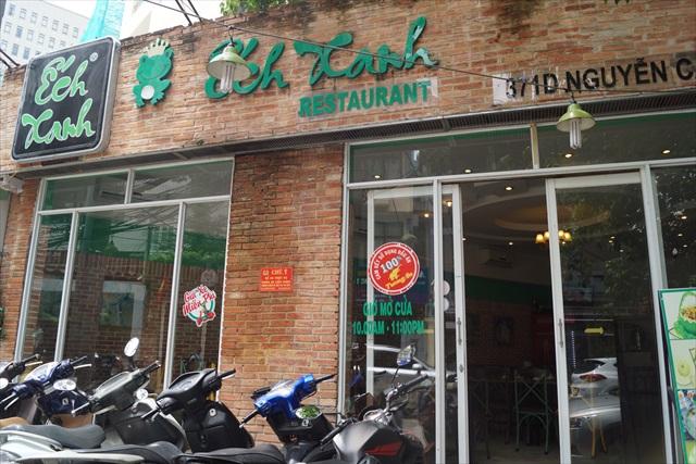 カエル料理専門店、「Ech Xanh Restaurant」。