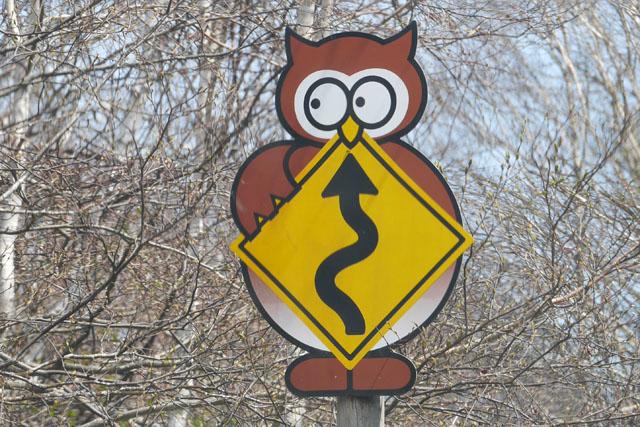 交通標識もデコレーションされていた。そんなに人が来るところにも思えないのだけど、この力の入れようは謎である