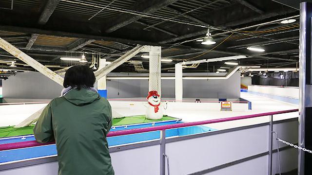 スペースドームに以前話題になったスケート場があります!
