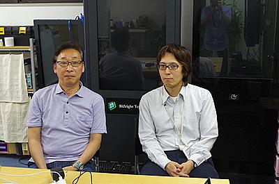 左が田中社長。右が三島さん。お世話になります。