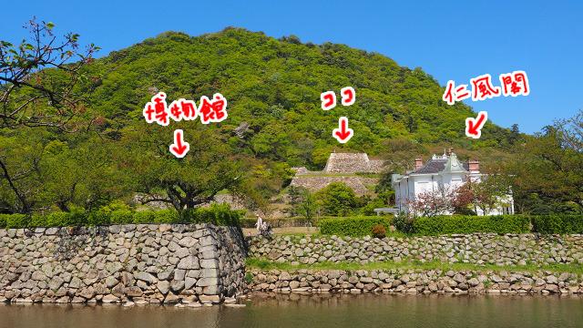博物館と仁風閣がある所は、実は鳥取城跡地。久松公園として憩いの場になっている。