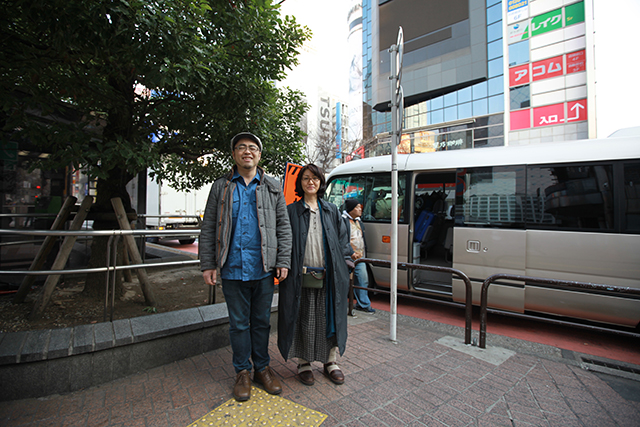 We met up near the Shibuya station before 7 in the morning.  We will move to the Tochigi prefecture to take photos of wedding from now.