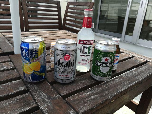 色々なお酒で試してみる。