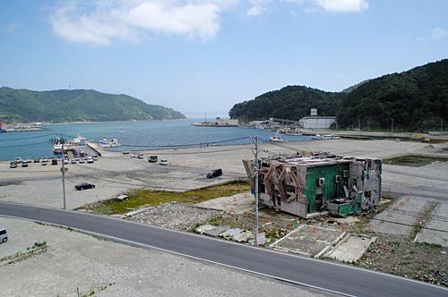震災翌年の女川町。きっとこのあたりにあったはず。