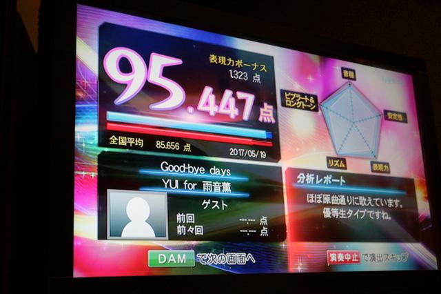 「桃ノ花ビラ」は92点!「Good-bye days」は95点!!