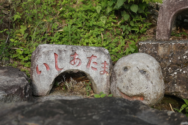 定番石彫ギャグ。