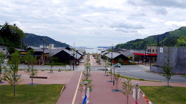 宮城県の女川町に、新しい街ができていました。