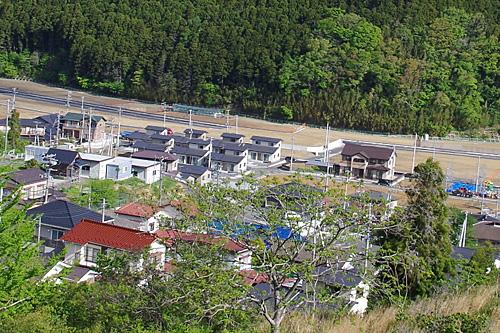 造成が終わったエリアには、すでに新しい家が建っていた。