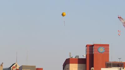 福岡にはアドバルーンが飛んでいた(東京ではあまり見ない…!)