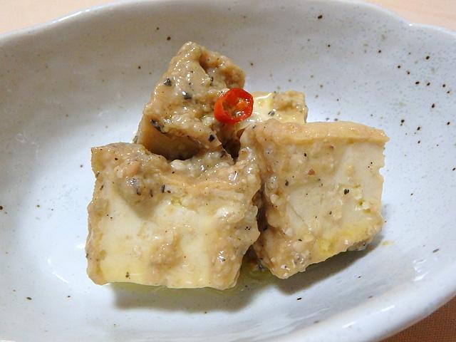 チーズとか豆腐の味噌漬けというような見た目になった。