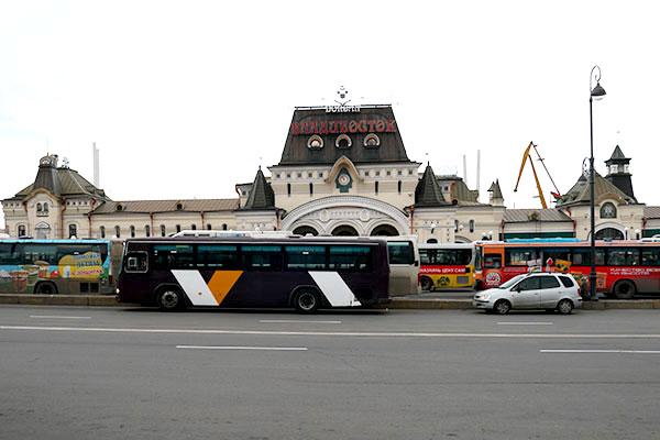 ウラジオストクの駅
