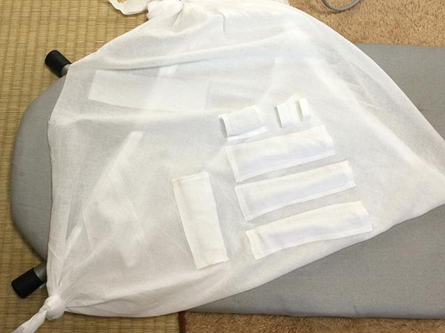 これが完成した新・三角巾。三角巾の進化のカタチだ。