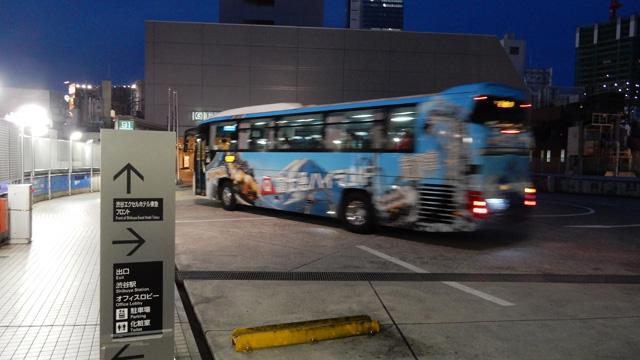 もちろんバスが入って来る。