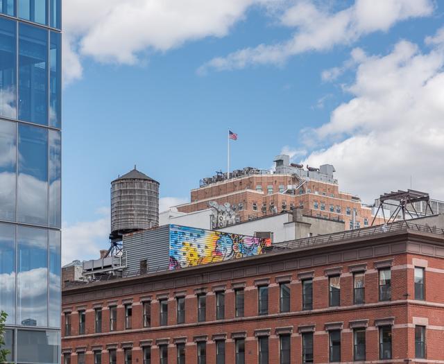 ニューヨークのビルの上にいる、とんがり帽子のかわいいやつ。この給水タンクを愛でます。