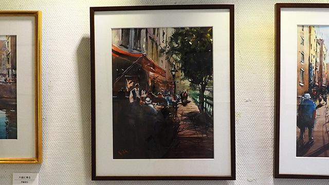 作品名「堀川沿いのカフェ」の場所にいきたい。