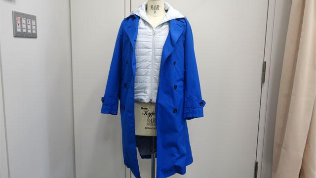 第1弾の着るバッグ・コート。コートとベストに分かれいててポケットの総数30