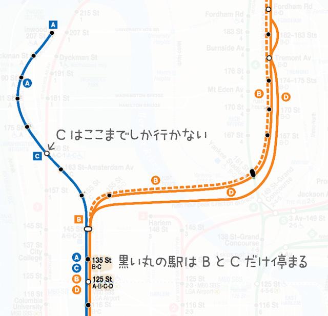 さきほどと同様MTA公式ウェブサイトのものを元に加筆加工。
