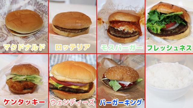 今回、参加するハンバーガー