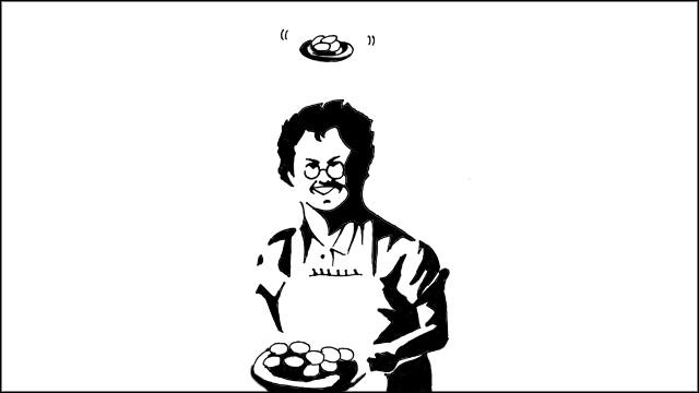 トルーから「ステラおばさんの上には当然クッキーがぶら下がってるんだろうなと思ったので描きました」と送られてきたイラストでおわりにします