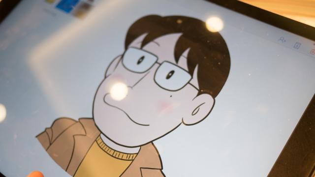 イベントで描いたF先生風の似顔絵。これもそれっぽい。