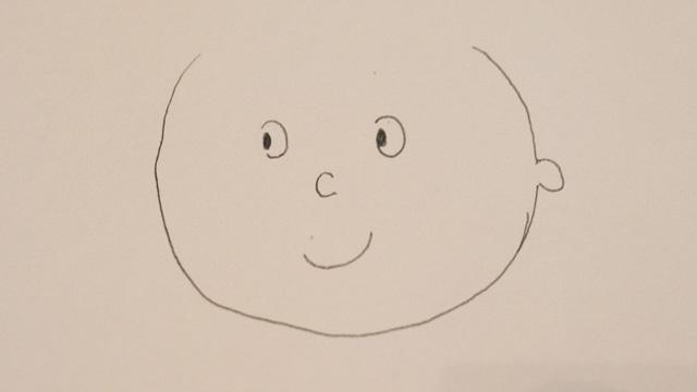 ぼくが描いた『サザエさん』風の絵