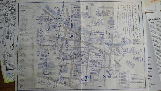 手書き地図の中でも人気だという「カキモリ」の手書き地図。サイトからダウンロードできる