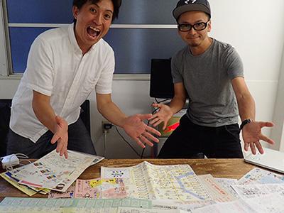 手書き地図推進委員会、赤津さんと川村さん。