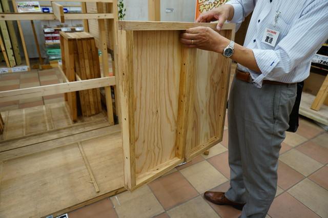 こういうパネル。木の板の四辺に枠がついている