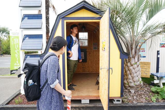 こっちはログハウスではないけど、設置するだけの小屋