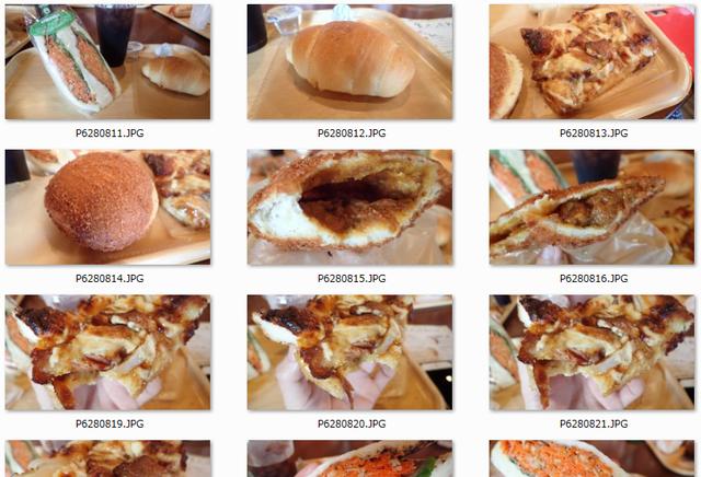 パンはもちろんおいしくて、ネッシーさんの写真を見たらパンの断面が数十枚、延々続いていた