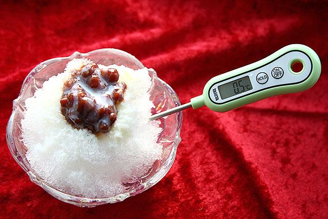 0.5℃。食べごろの温度である。ザラメだが、個人的にはこういうのも好きだ。