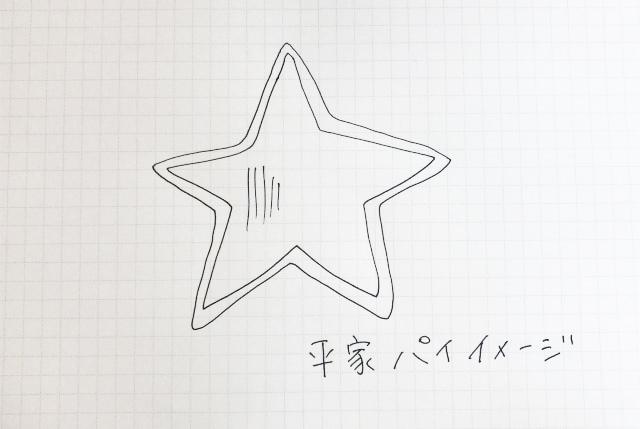 かわいらしいハート型の源氏パイに対抗して、星型で元気っ子アピールする平家パイ