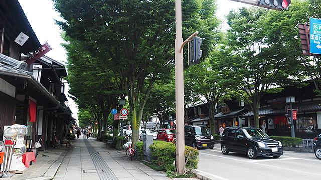 こちらは彦根城前の昔を再現したキャッスルロード。観光しやすいように道幅が拡張されてて人通りも多い。