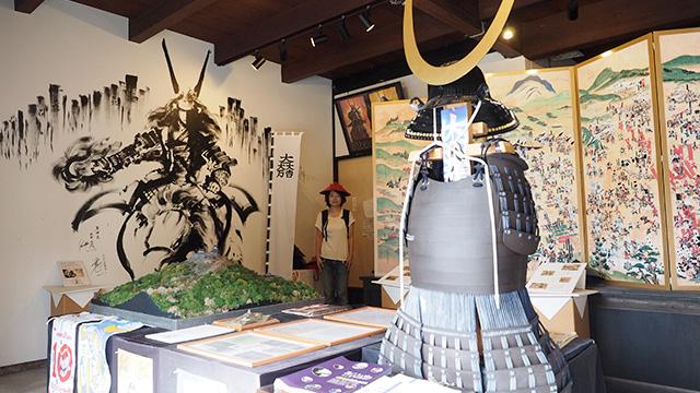 彦根に縁が深い石田三成を紹介する展示施設。誰もいなくて寂しい。