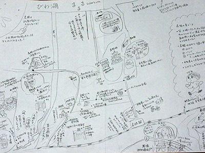 今回の旅を手書きマップにしてみました。(大きい画像はこちら)