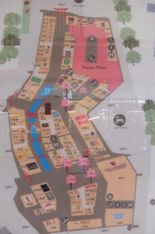 全体地図。桜が咲いてたり、鳥居があったり日本的だ。