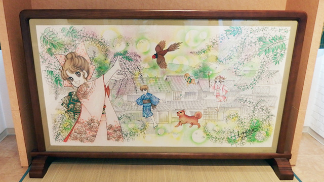 倉敷物語特別展示室にて