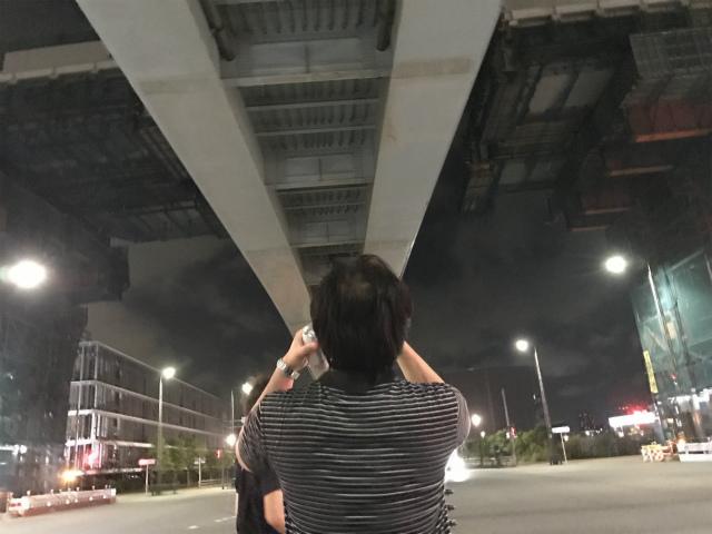 首都高とゆりかもめの高架の間、この隙間の写真を撮れるのは今日が最後