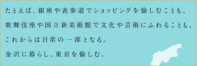 千葉の物件でも言わないような「東京を庭にする」的な詩が! (同じくダイワハウス「プレミスト金沢本」)