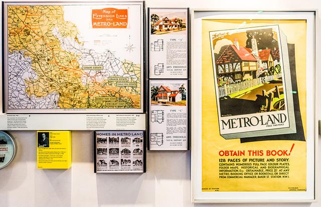 で、これ! 「メトロランド」という、後に日本をはじめとして世界中で行われる「鉄道会社による沿線における宅地開発」の歴史展示! これ、ふるえた。