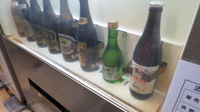 最近すっかり見なくなった瓶ビールの自動販売機