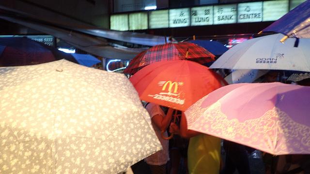 マクドナルド柄の傘も発見