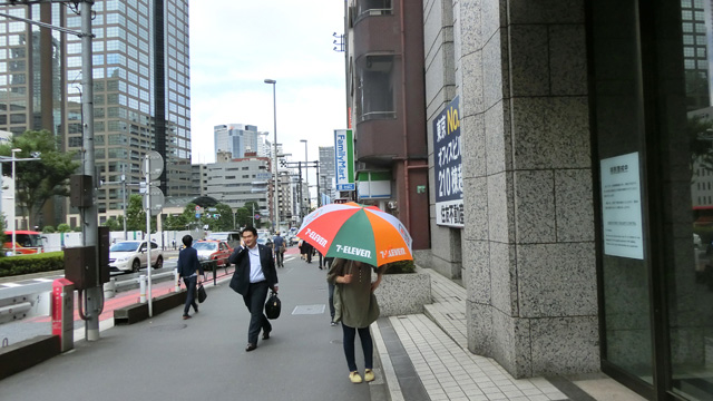 香港で見たときよりも派手に見える。雨の降ってない日に差したからというのもあるけど
