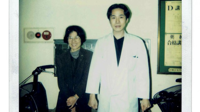 生徒のお母さんと撮った記念写真