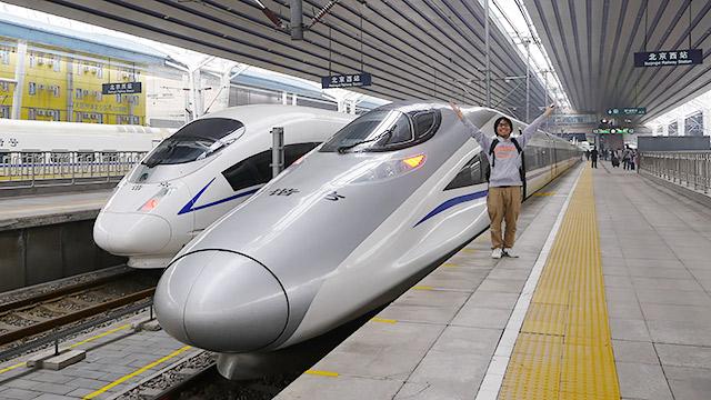 中国の新幹線を満喫します!