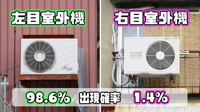 「右目室外機」は、出現確率わずか1.4%のレア室外機