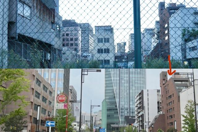 右側の茶色い建物がいっしょ