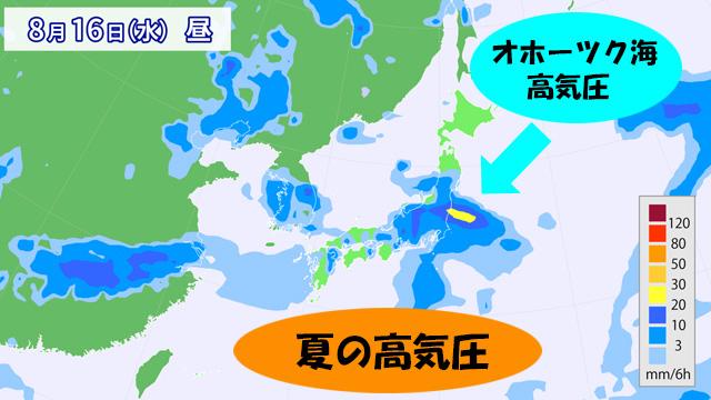 夏の高気圧は、完全にやる気なし。雨雲がスルスルっと列島へやってくる。