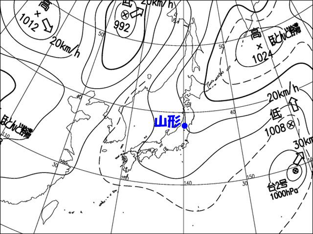 気象庁天気図。