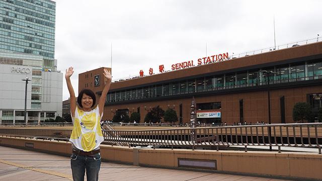 想像以上に大きくて賑やかな仙台駅。